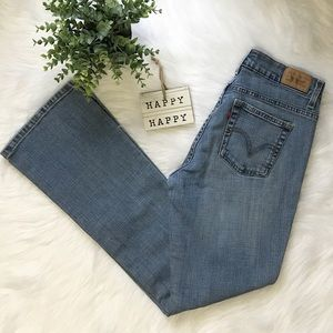 Levis 515 Boot Cut Women's Light Wash Blue Jeans